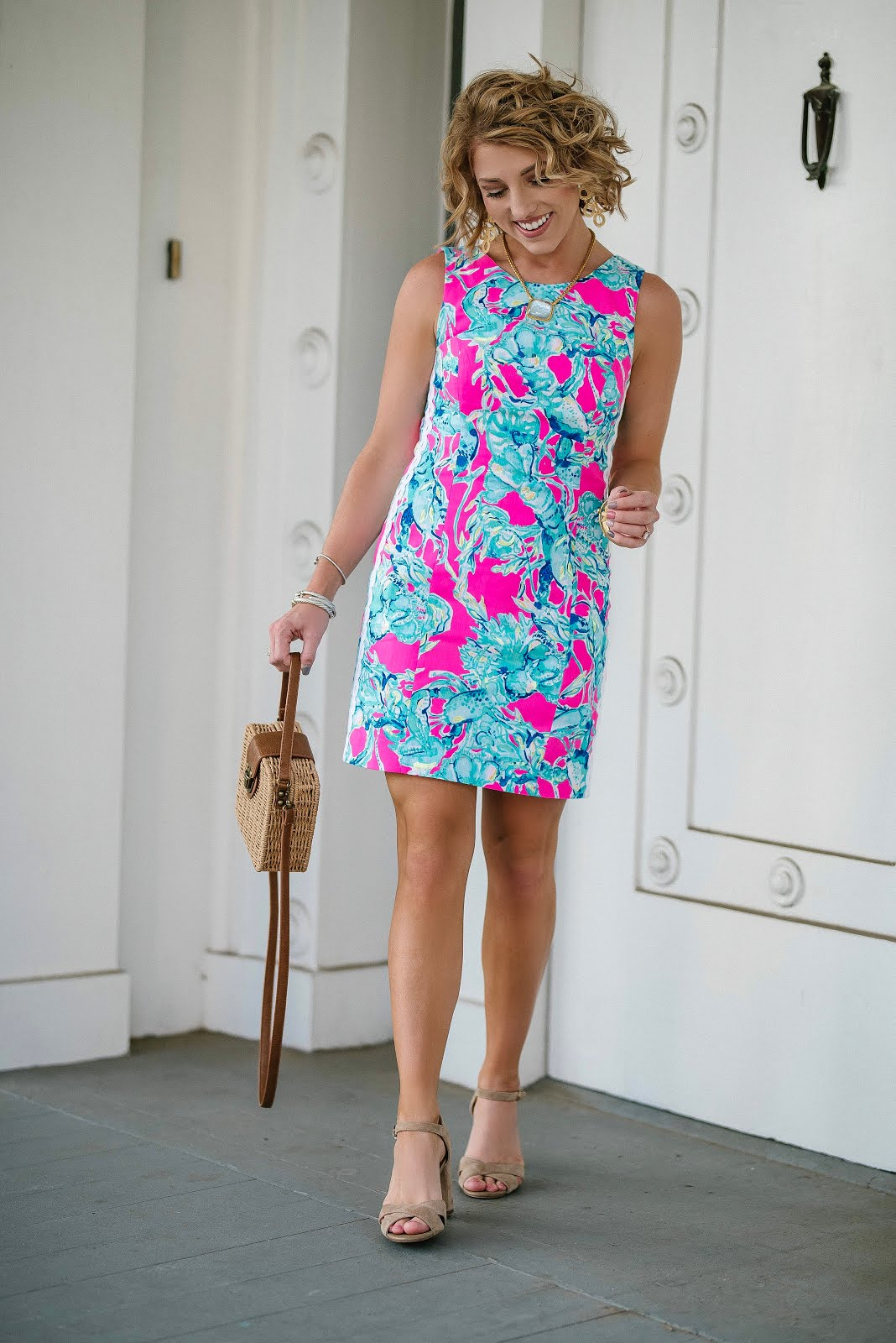 Lilly Pulitzer Mila Shift Dress in Lobsters in Love - Something Delightful Blog