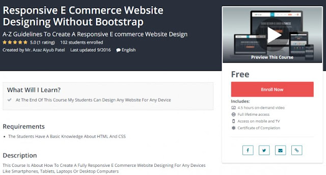 [100% Free] Responsive E Commerce Website Designing Without Bootstrap