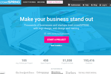 CrowdSpring.com salah satu surga desainer Indonesia
