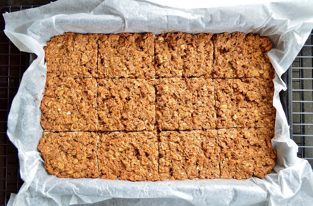Slice the Baked Almond Flapjacks