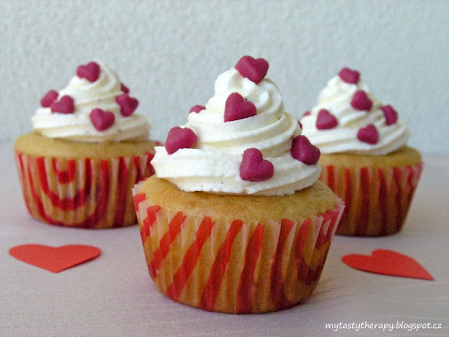 rapsberry cupcakes from love