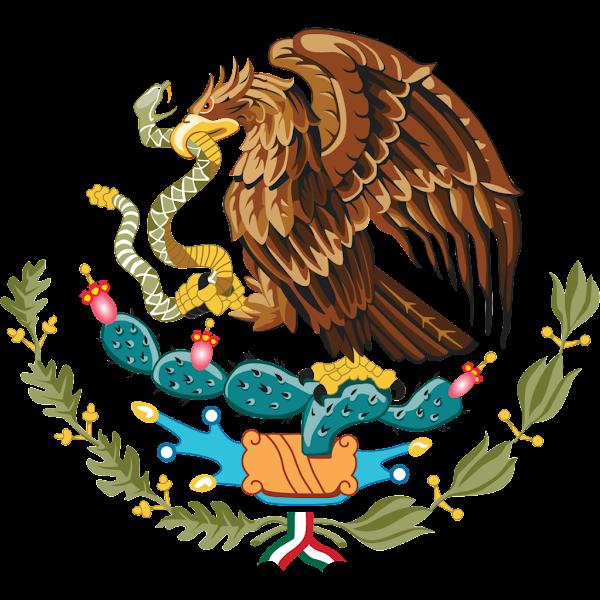 Logo Gambar Lambang Simbol Negara Meksiko Serikat PNG JPG ukuran 600 px