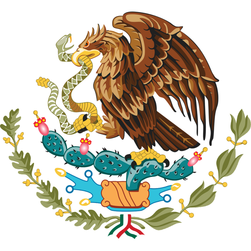 Logo Gambar Lambang Simbol Negara Meksiko Serikat PNG JPG ukuran 800 px