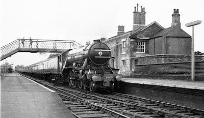 World famous team loco Flying Scotsman at Brigg railway station in 1968 - courtesy of Stuart Atkinson, of Gainsborough