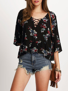 www.shein.com/Black-Half-Sleeve-Lace-Up-Floral-Print-Dress-p-267291-cat-1733.html?aff_id=2687