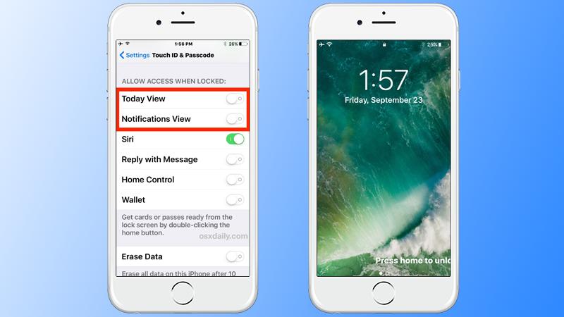 Disable iOS 10 widgets