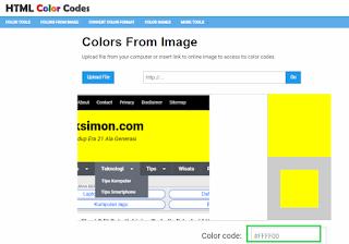 Deteksi Warna Online Kode HTML