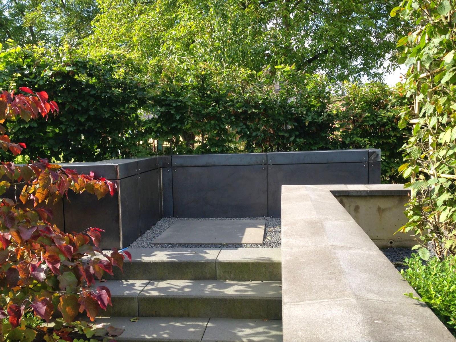 Cortenstahl PATINAX Wandverkleidung Treppe Und Garten