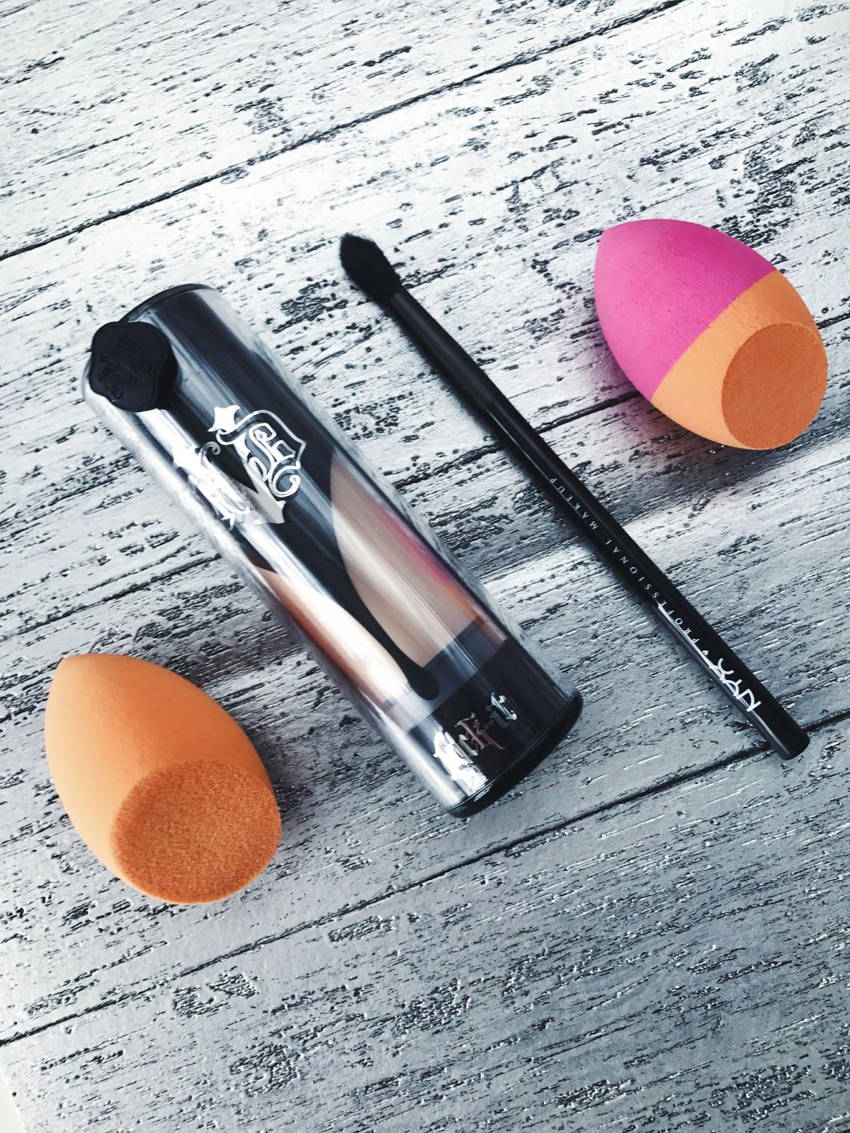 Kat Von D Lock-it foundation and beauty blender