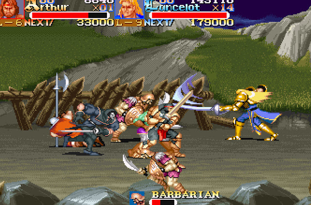 Knights of the Round - Stage 4 Barbarian Screenshot
