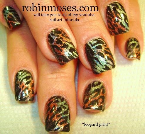 """Robin Moses Nail Art: """"traditional leopard print"""" """"nail ..."""
