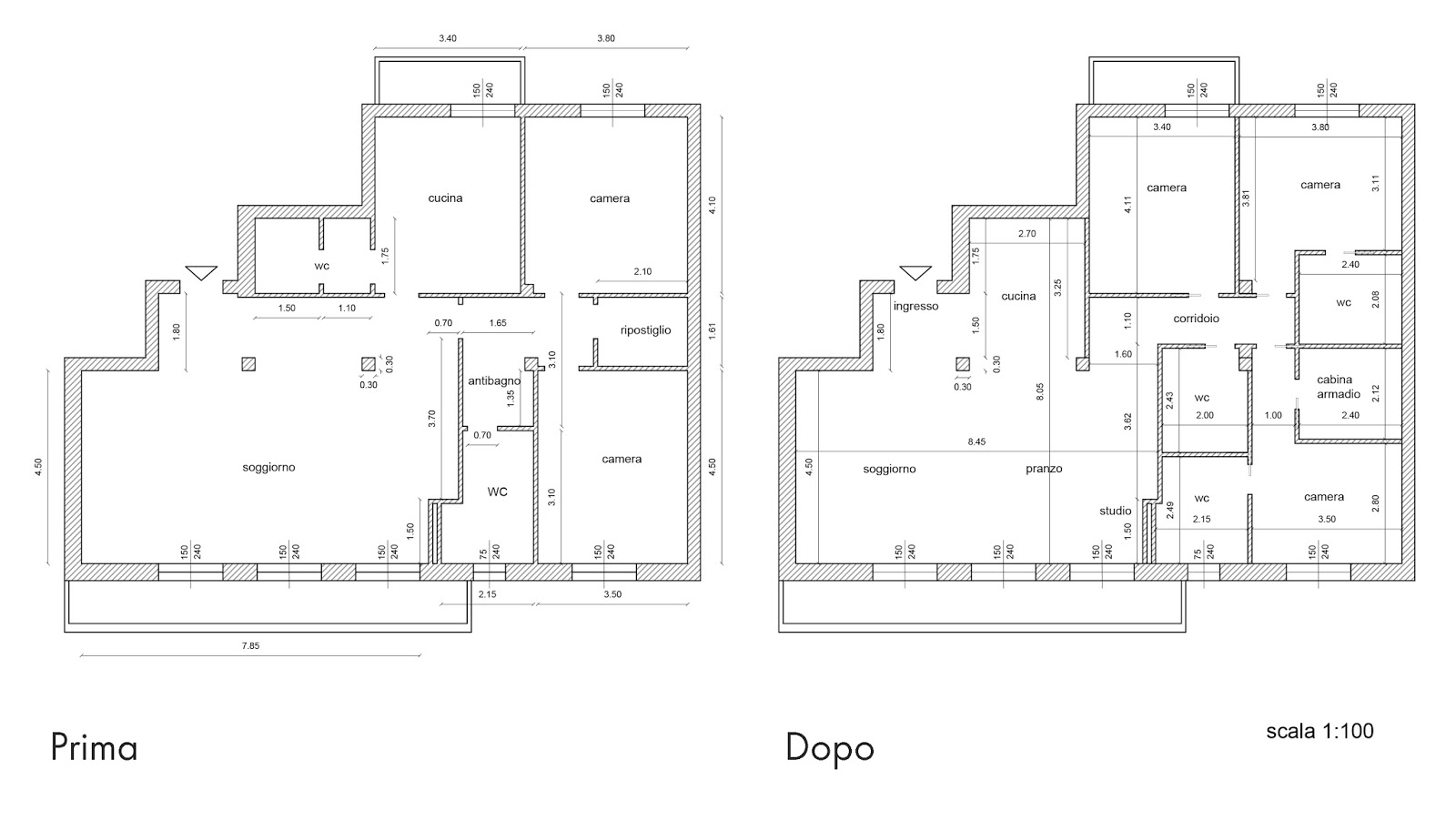 Progetto bagno 2 mq uj75 regardsdefemmes for Progetto casa 75 mq