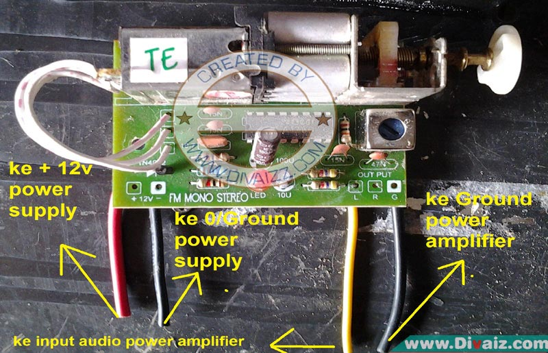 Cara Mudah Memasang Tuner Fm Pada Power Amplifier