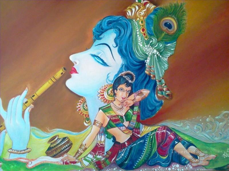 acrylic painting of radha krishna wallpaper