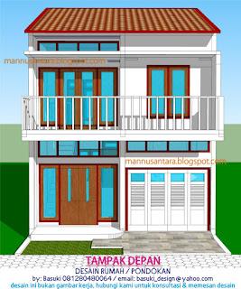 mannusantara design indonesia: rancangan rumah 2 lantai