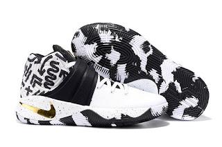 Nike Kyrie Irving 2 White Black Gold Sepatu Basket Premium, harga nike kyrie irving 2, nike kyrie irving 2 basket, nike kyrie irving 2 premium, replika ,import