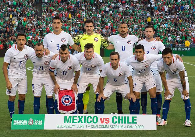Formación de Chile ante México, amistoso disputado el 1 de junio de 2016