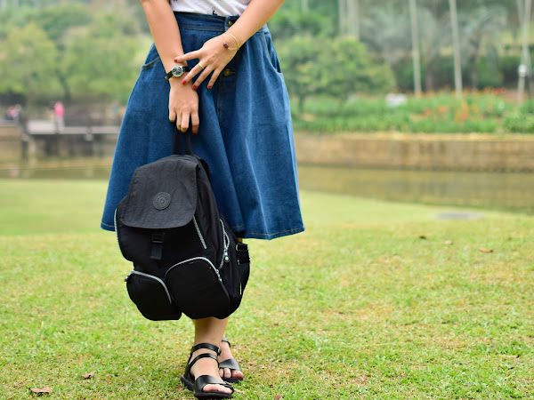 Outfit Diary : Denim skirt + Backpack