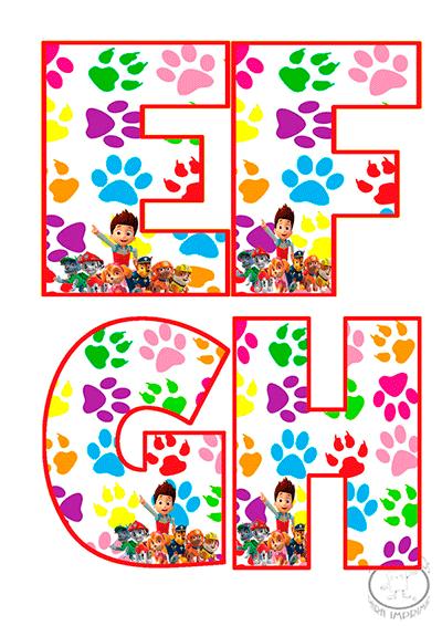 Abecedario de patrulla canina para imprimir imagenes y dibujos para imprimir - Letras decoradas infantiles ...