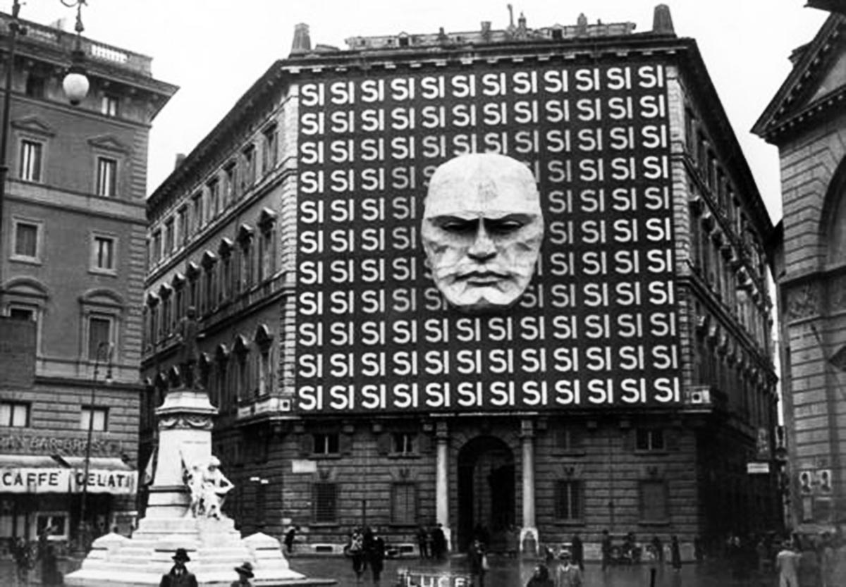The headquarters of Mussolini's Italian Fascist Party, 1934.