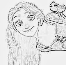 tangled coloring pages pascal 4