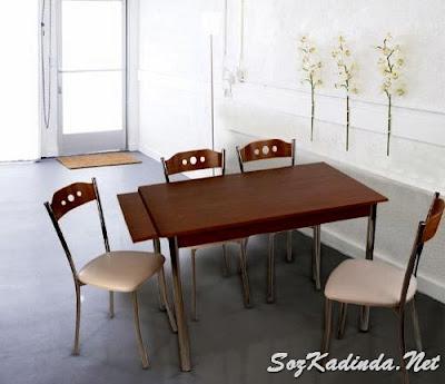 Tekzen masa sandalye takımı