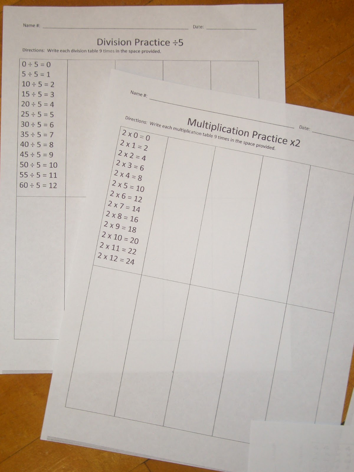 How To Tackle Those Multiplication Tables