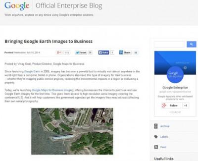 Google Kini Jual Data Pencitraannya Untuk Bisnis