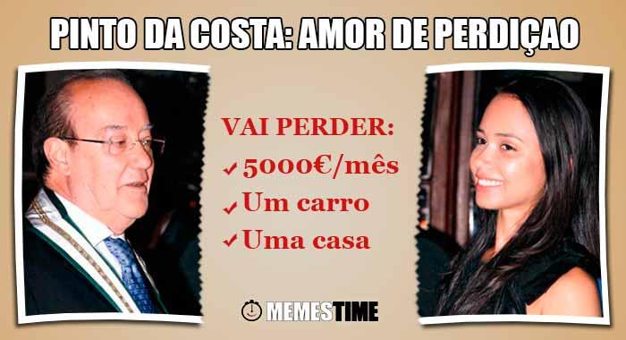 GIF Memes Time… da bola que rola e faz rir - A história de amor entre Pinto da Costa e Fernanda Miranda revela-se do ponto de vista financeiro um Amor de Perdição para Pinto da Costa - Pinto da Costa: Eu tenho dois… Buracos Financeiros
