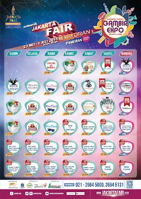 Rangkaian acara di Panggung Budaya Jakarta Fair 2018