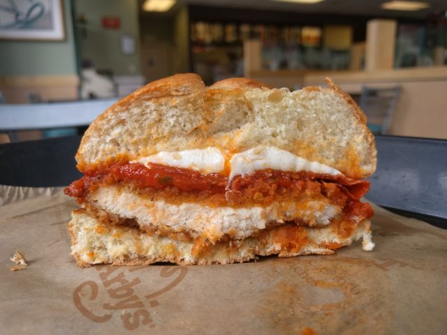 Overall Between The Crunchy Chicken The Flavorful Sauce And The Gooey Mozzarella Arby S Chicken Pepperoni Parm Sandwich Was Pretty Tasty But The