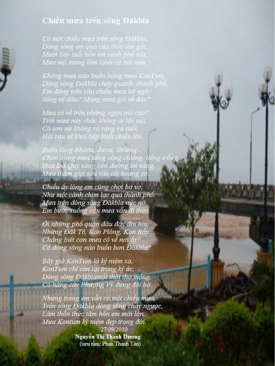Chiều mưa trên dòng sông ĐăkBla. Pleiku phố núi và bạn bè