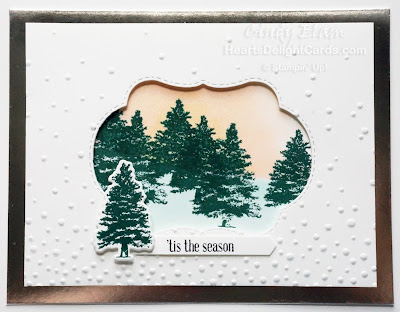 Heart's Delight Cards, Rooted in Nature, Christmas Card, Stitched Seasons Framelits, Stampin' Up