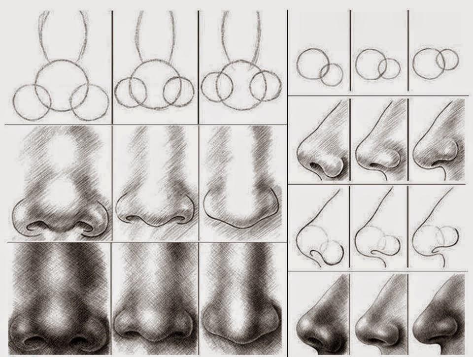 Tecnicas De Desenho Nariz Boca E Olho Aprender Desenho