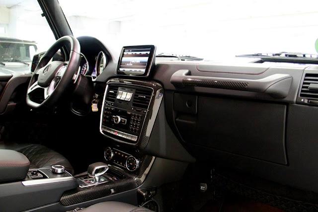 Mercedes AMG G63 tích hợp Hệ thống thông tin giải trí hiện đại và hàng đầu của Mercedes