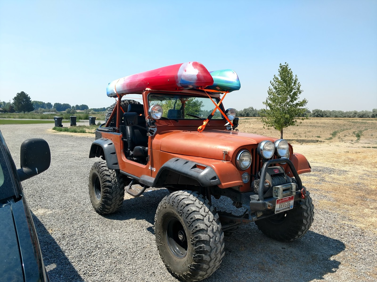 25a105a86 The infamous Orange Jeep loaded for the river!