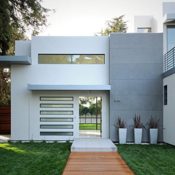 Fachadas minimalistas fachada minimalista en gris for Casa minimalistas