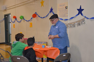 Students participate in Family Math Day at Moscone Elementary School.
