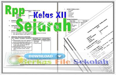 RPP Sejarah Kelas XII SMA Kurikulum 2013 { Berkas File Sekolah }