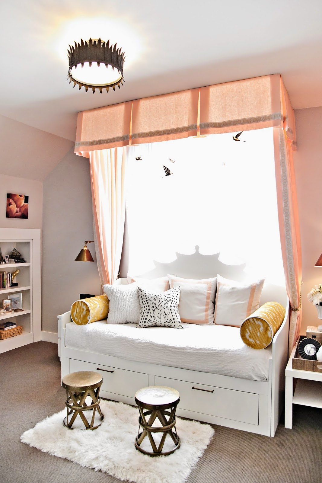 Teen Girl Room Color Scheme: Design Dump: ORC Finale: A Teen Bedroom In Peach + Mustard