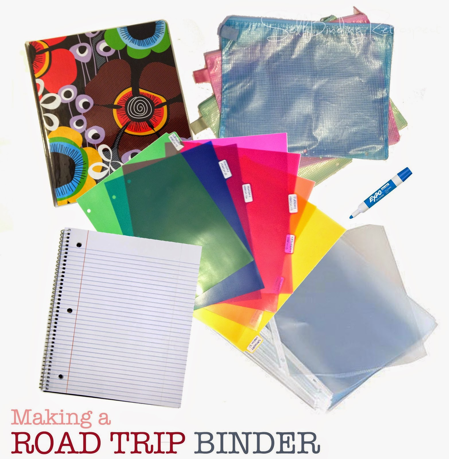 Making a road trip binder