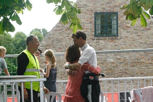 Prince Joachim and his wife, Princess Marie of Denmark, together with their children, Princess Athena and Prince Henrik