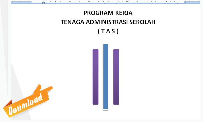 Program Kerja Administrasi Sekolah (TAS) Format Microsoft Word