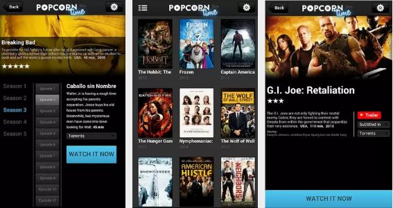 Popcorn Time android ios windows