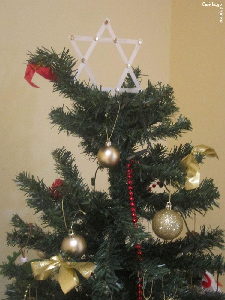 Una estrella para el rbol de navidad caf largo de - Estrella para arbol de navidad ...