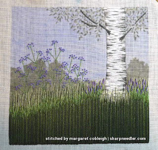Under the Silver Birch (designed by Jo Butcher): Purple flowers complete