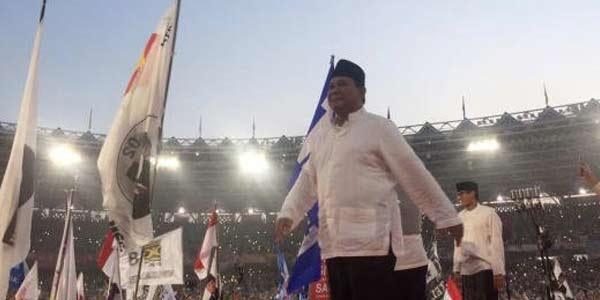 Sapa Pendukung, Prabowo: Merdeka, Allahu Akbar!