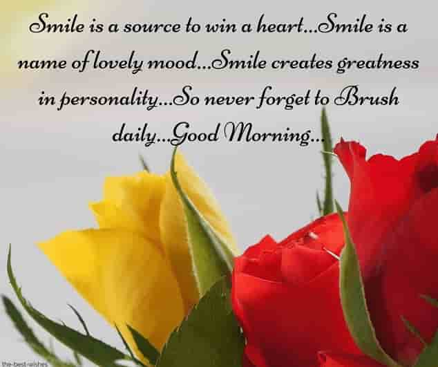 funny good morning sms with roses