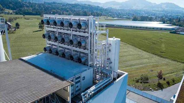 Swiss Buka Pabrik Penghisap Gas Karbon Di Udara untuk Dijual
