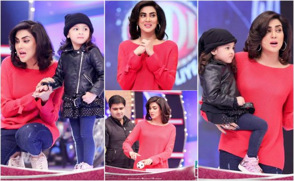 Fiza Ali with her Daughter Faraal in a Show